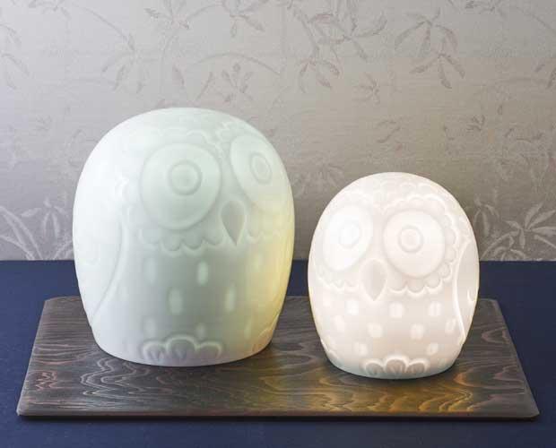 石井康行の精緻な技とあたたかな人間性が光る 「フクロウ」ランプ!