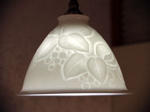 白磁のランプ